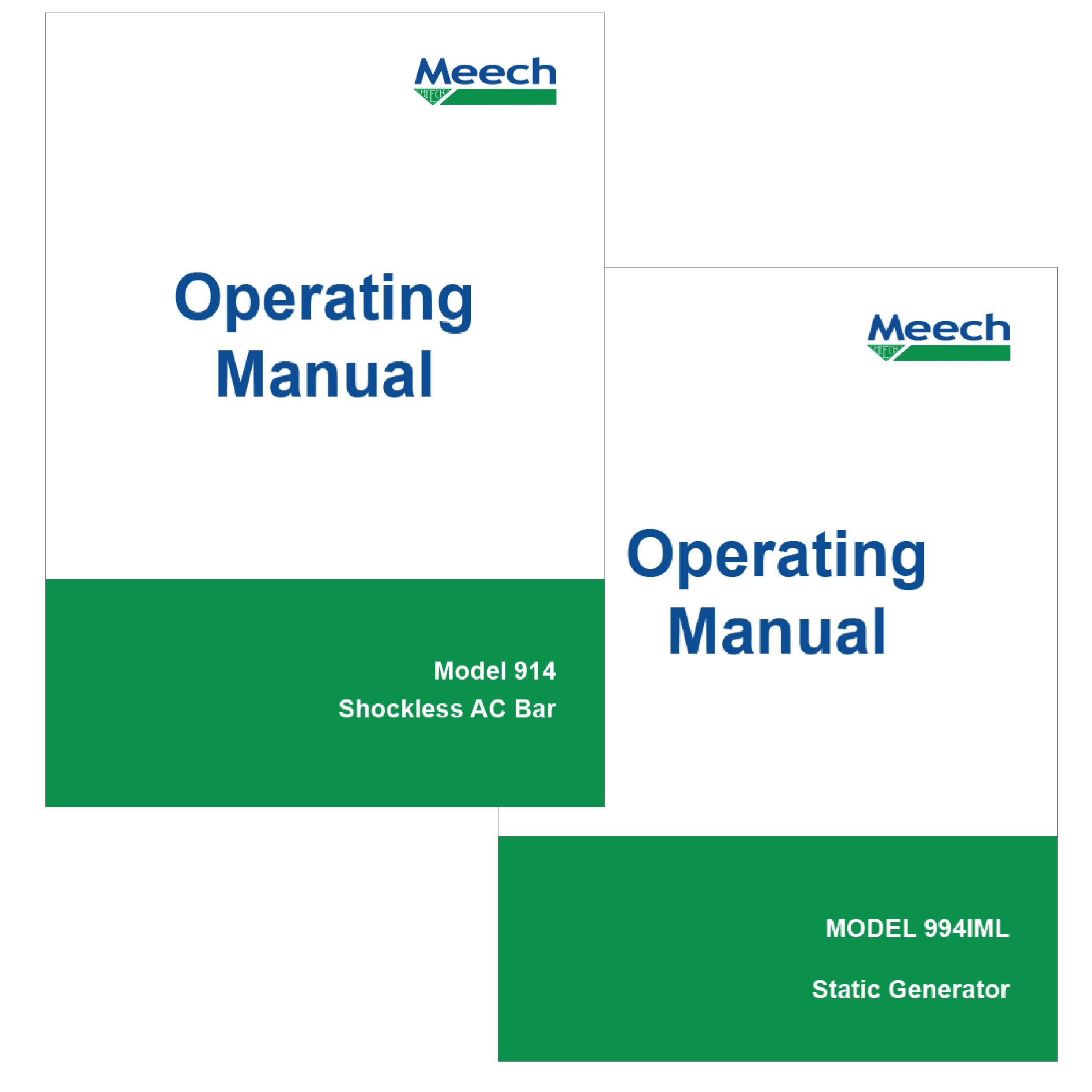 900 Series Operating Manuals